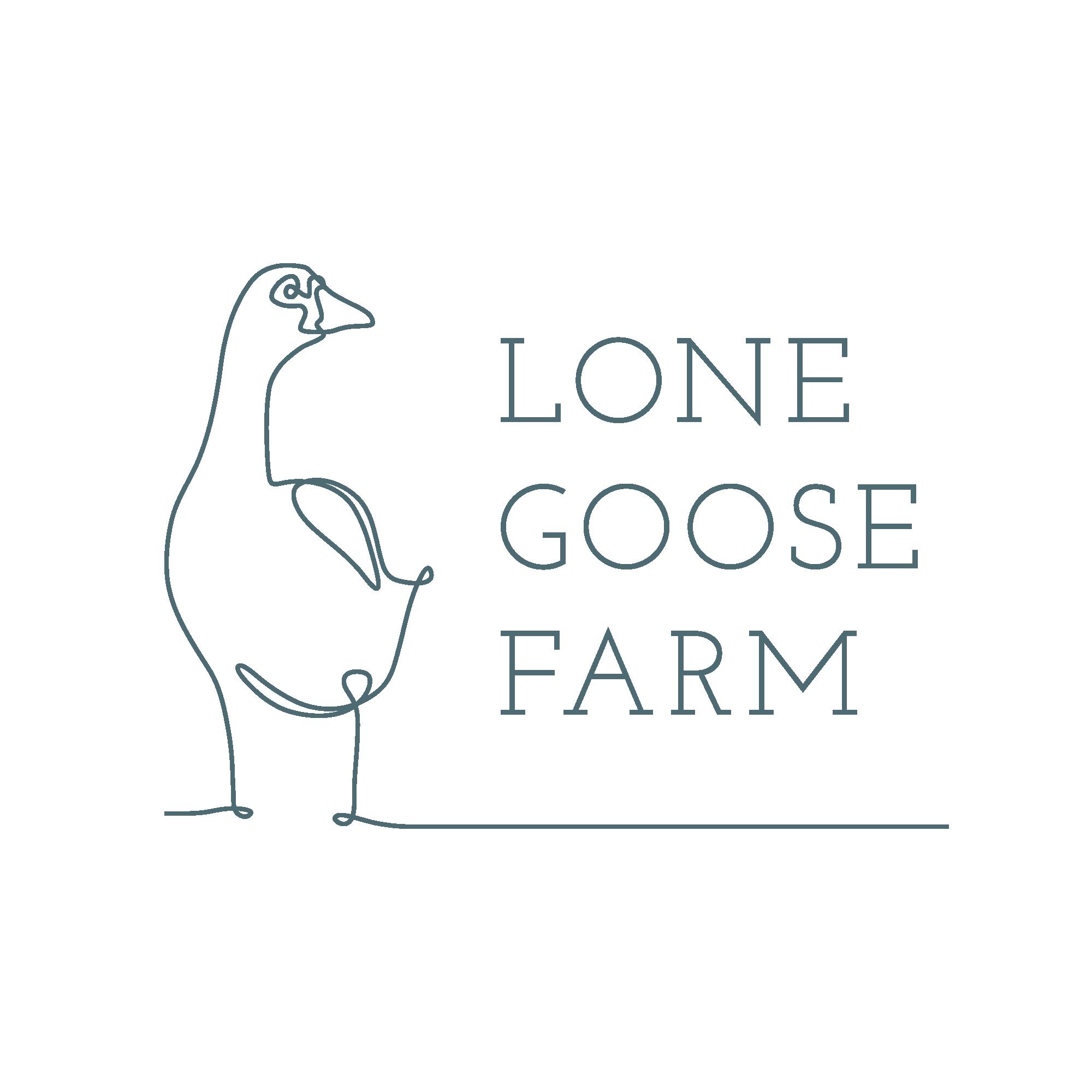 Lone Goose Farm Inverted Logo
